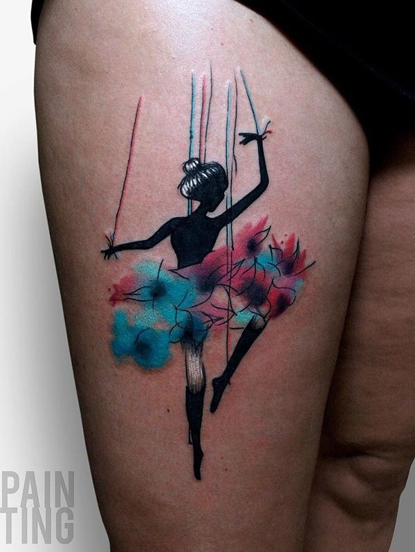 65 Lovely Pink Nail Art Ideas: 65+ Lovely Dance Tattoo Designs