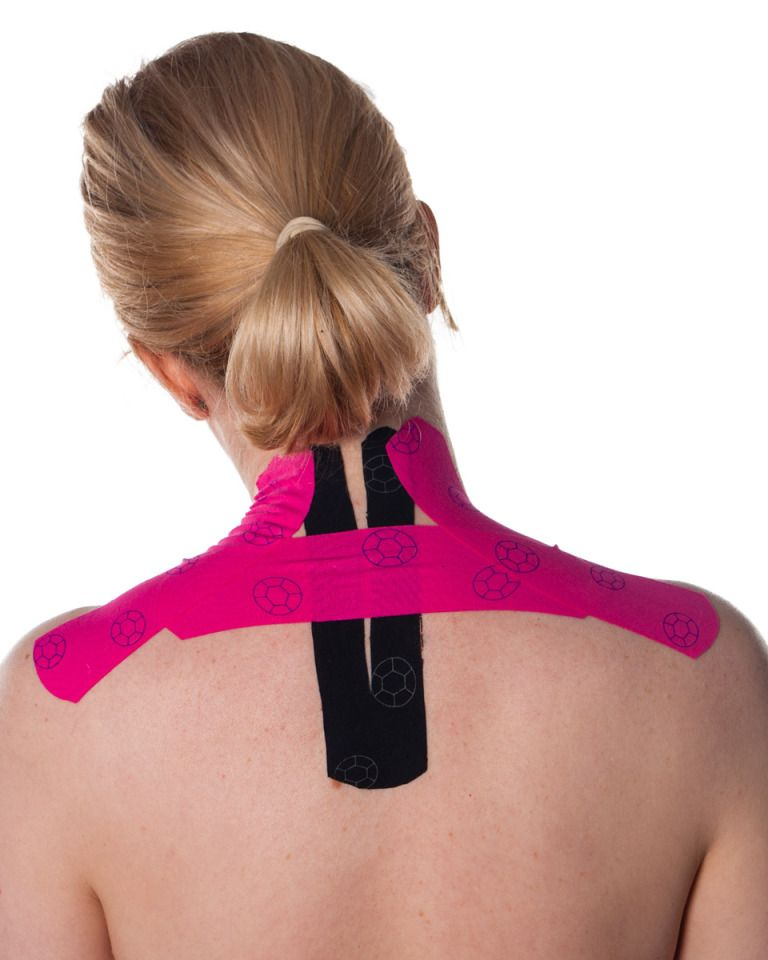 Shoulders and Upper Back Kinesiology Tape Kinesiology