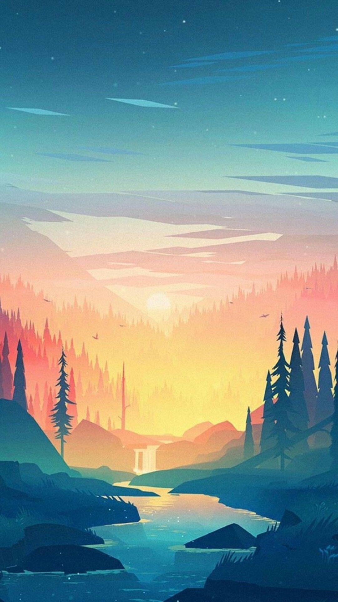 Painting Art Wallpaper Hd In 2020 Scenery Wallpaper Landscape Wallpaper Landscape Art