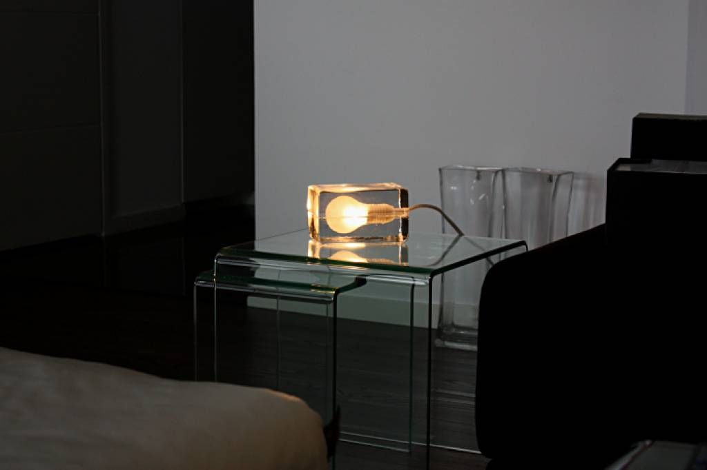 Design House Stockholm Block Lamp Clear Lamp Table Lamp Design House Design
