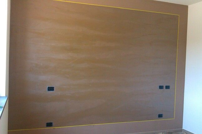 Parete decorata con effetto ottocento antico velluto with - Effetti decorativi per pareti ...