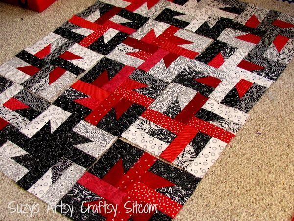 Art Quilt Patterns   free quilt pattern series -Windmills at Night ... : black and white quilt patterns free - Adamdwight.com