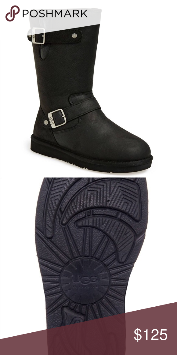 13ed13c42db UGG Boots Cute UGG S/N 5678 Black Suede / UGG pure wool lining ...
