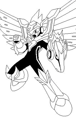 Flying Mega Man coloring page for boys #robot | Color me fun ...