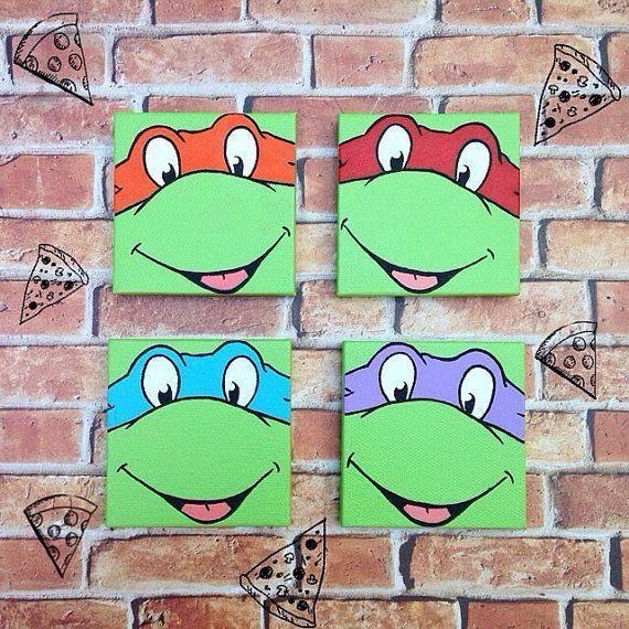 Tmnt Teenage Mutant Ninja Turtles Mini Canvas Painting Mini Canvas Art Ninja Turtles Canvas Painting Small Canvas Paintings