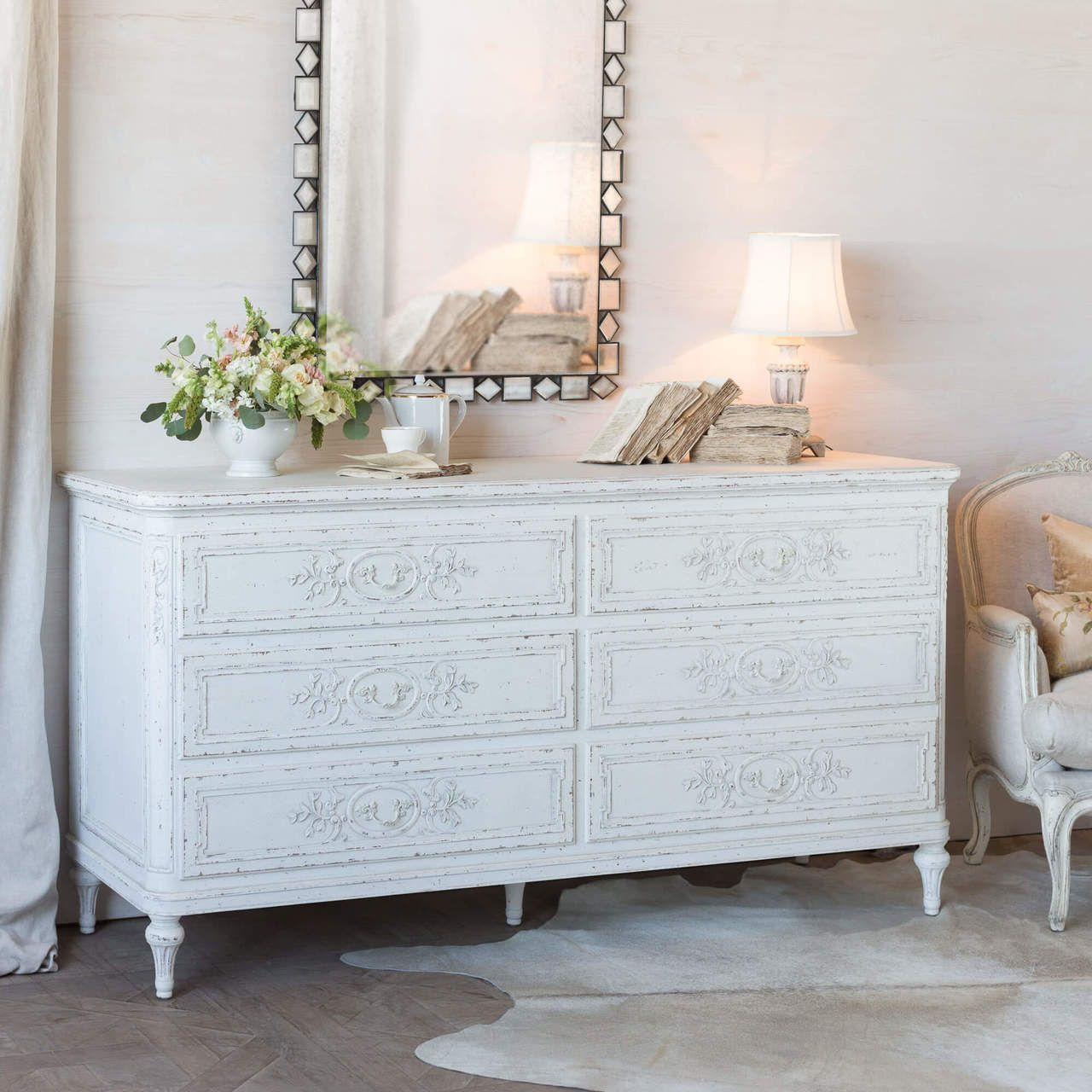 Eloquence Bronte Dresser In Weathered White Finish In 2021 Weathered White Top Quality Furniture Bedroom Inspirations [ 1280 x 1280 Pixel ]