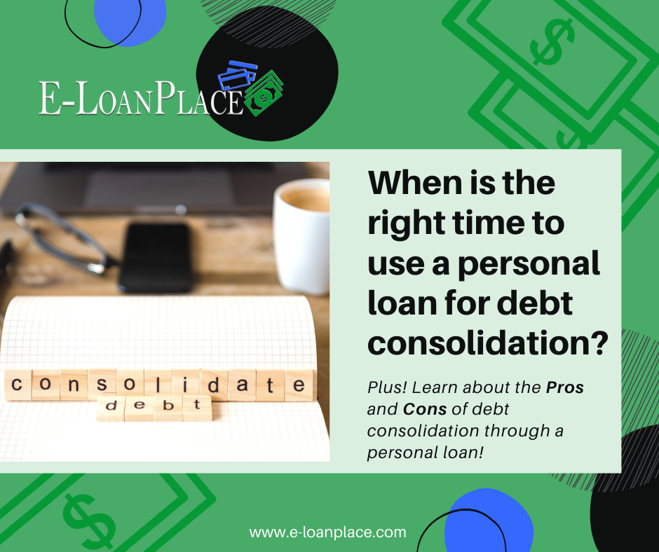 E Loan Place Using A Personal Loan To Consolidate Credit Card Debt Loan Place In 2020 Personal Loans Consolidate Credit Card Debt Credit Card Consolidation