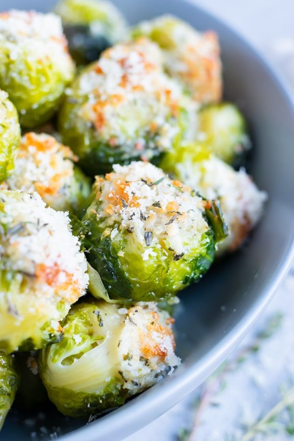Smashed Brussels Sprouts with Parmesan Cheese #smashedbrusselsprouts