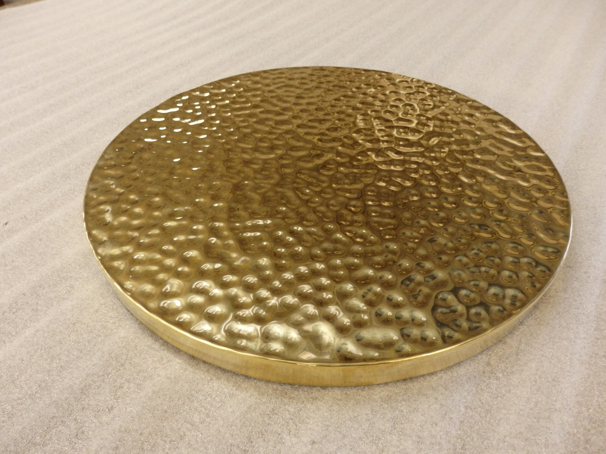 104 Hammered Hand Beaten Brass Table Top Brass Table Brass Table Top