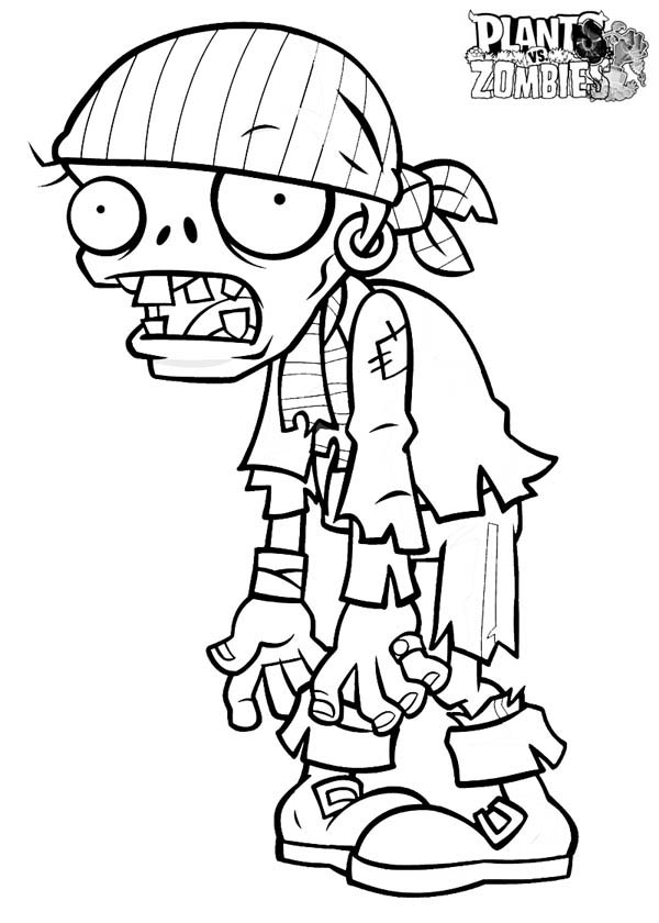 Pirate Zombie In Plant Vs Zombie Coloring Page Coloring Sky Mario Coloring Pages Coloring Pages Cartoon Coloring Pages