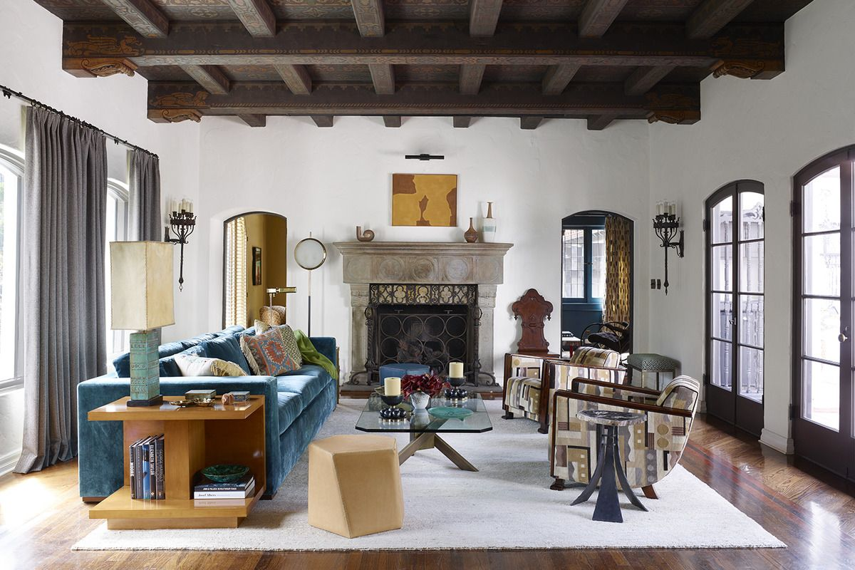 Love How This Living Room Mixes Modern, Traditional, Boho