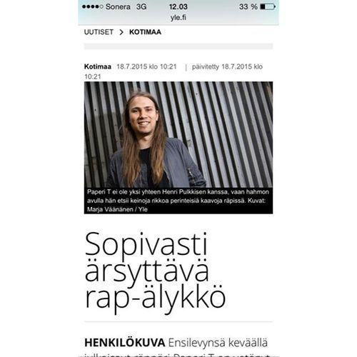 #Henri Pulkkinen/Paperi T @henripulk Yle uutiset teki ...Instagram photo / Websta (Webstagram)