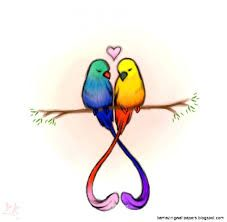 Image Result For Cute Drawings Of Love Love Birds Drawing Bird Drawings Cute Drawings Of Love
