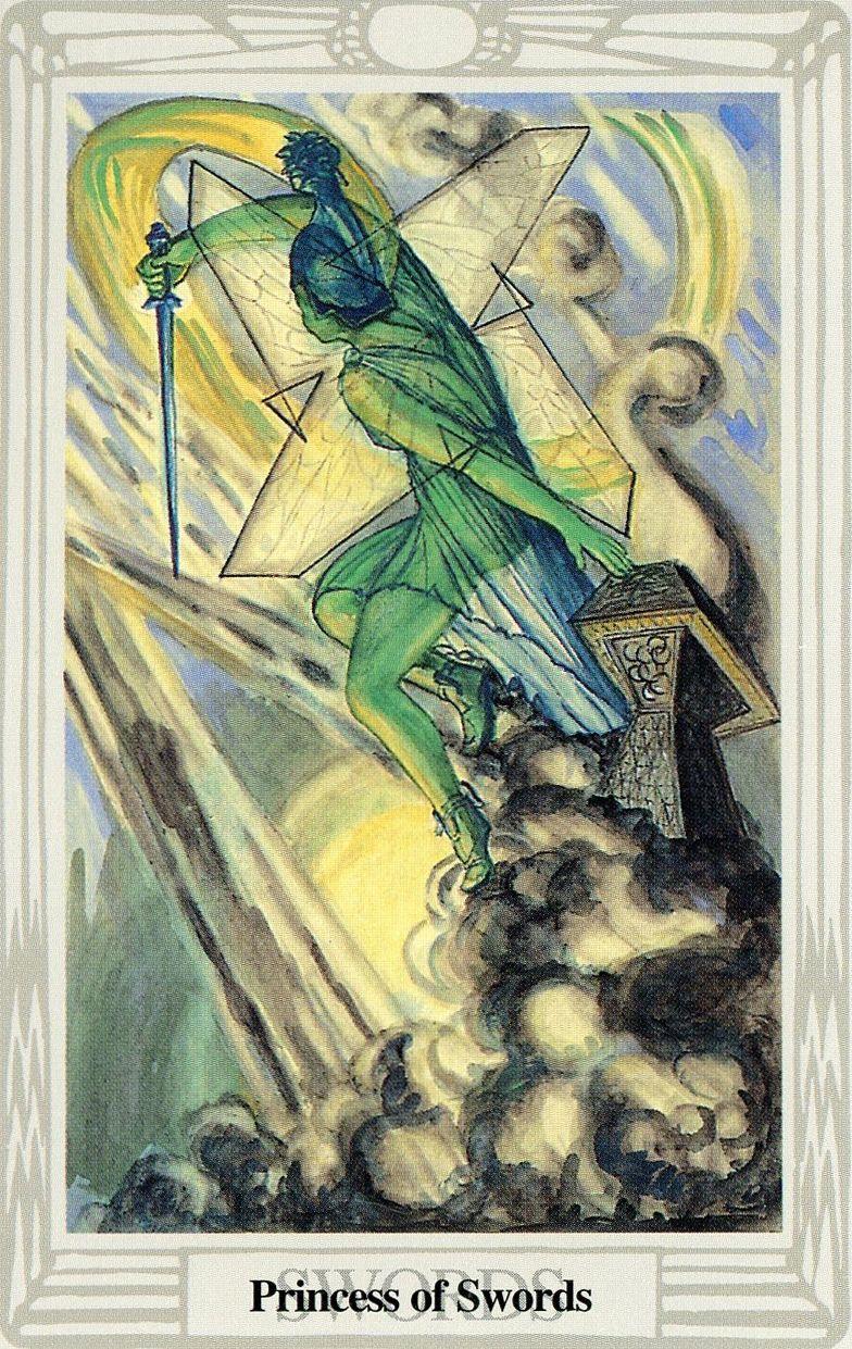 Tarot D The Didactic Tarot By Jeffrey M Donato: Le Valet D'épées (Princess)