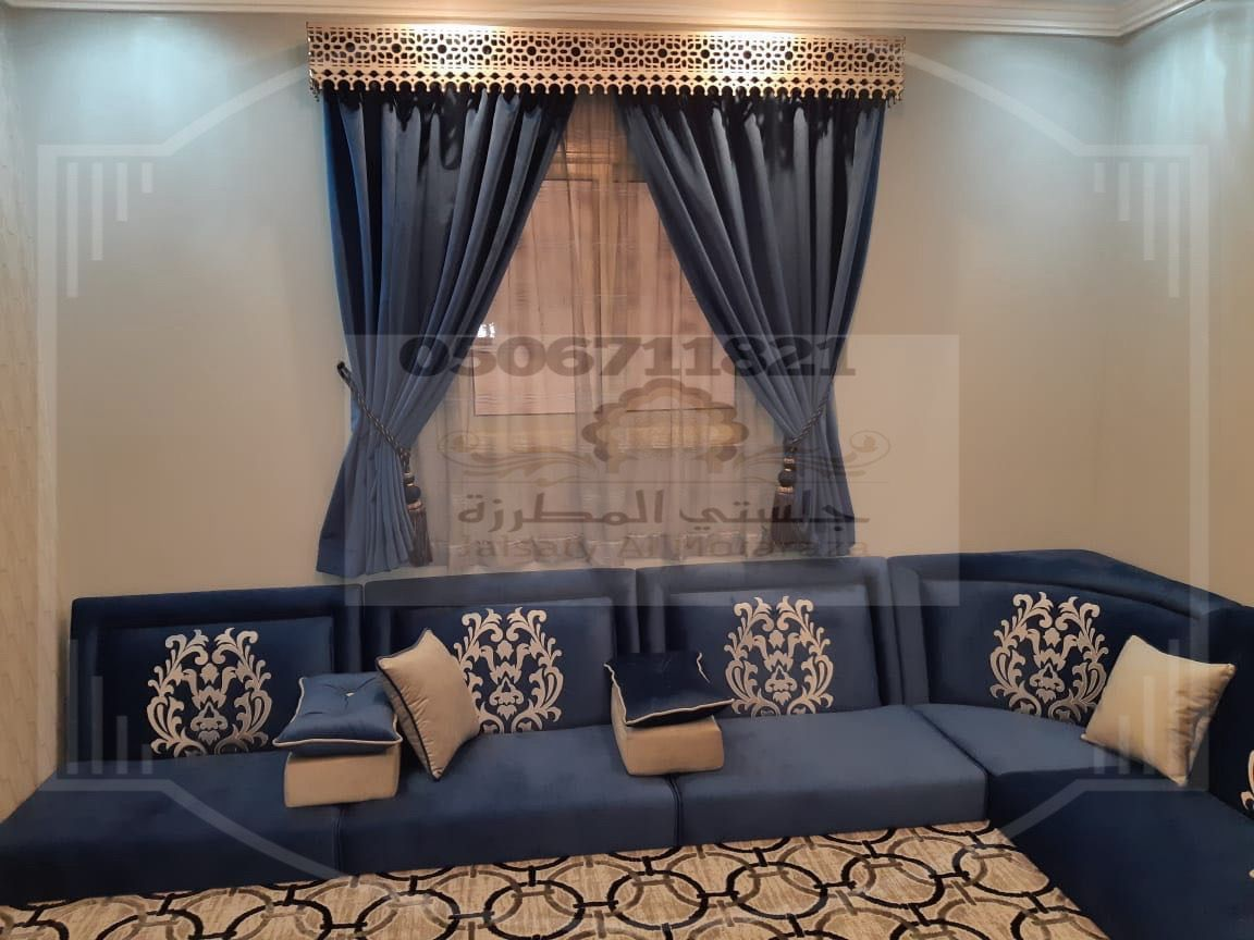 مجلس ارضي روعة من تصميم وتنفيذ جلستي المطرزة Sitting Room Interior Design House Furniture Design Living Room Design Modern