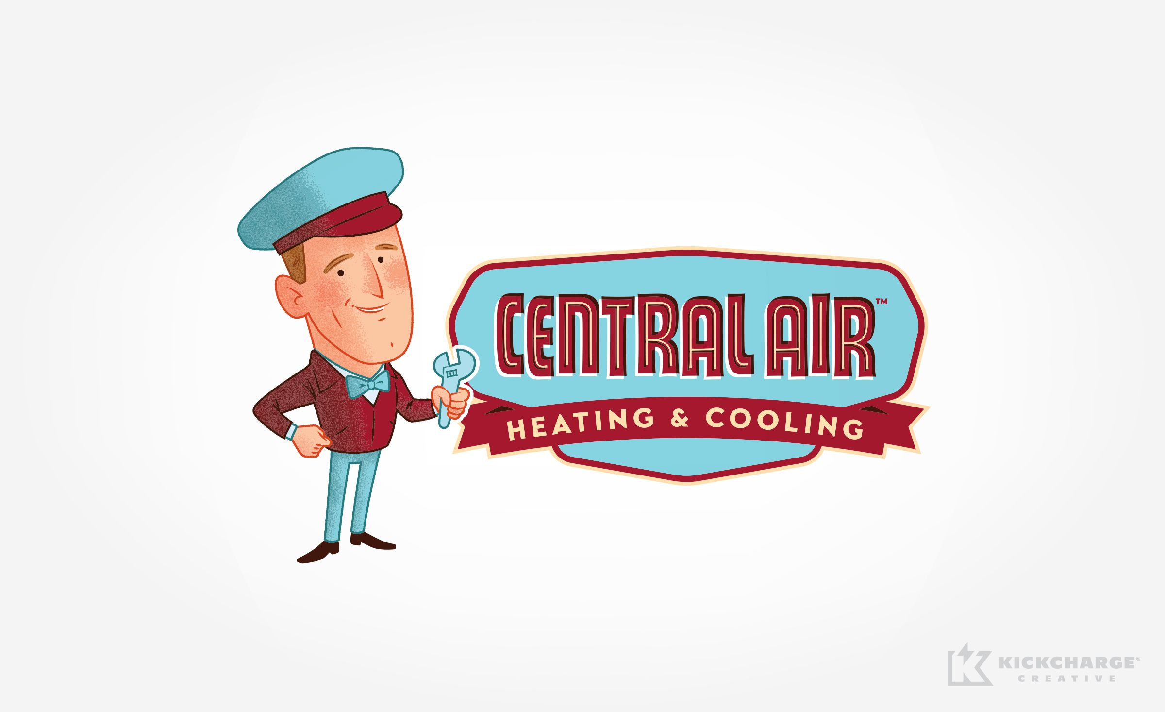 Logo Design For Central Air Heating Cooling Nj Advertising