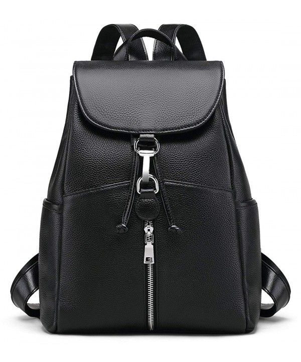 291ed115485b New Women Real Genuine Leather Backpack Purse vintage SchoolBag by ...