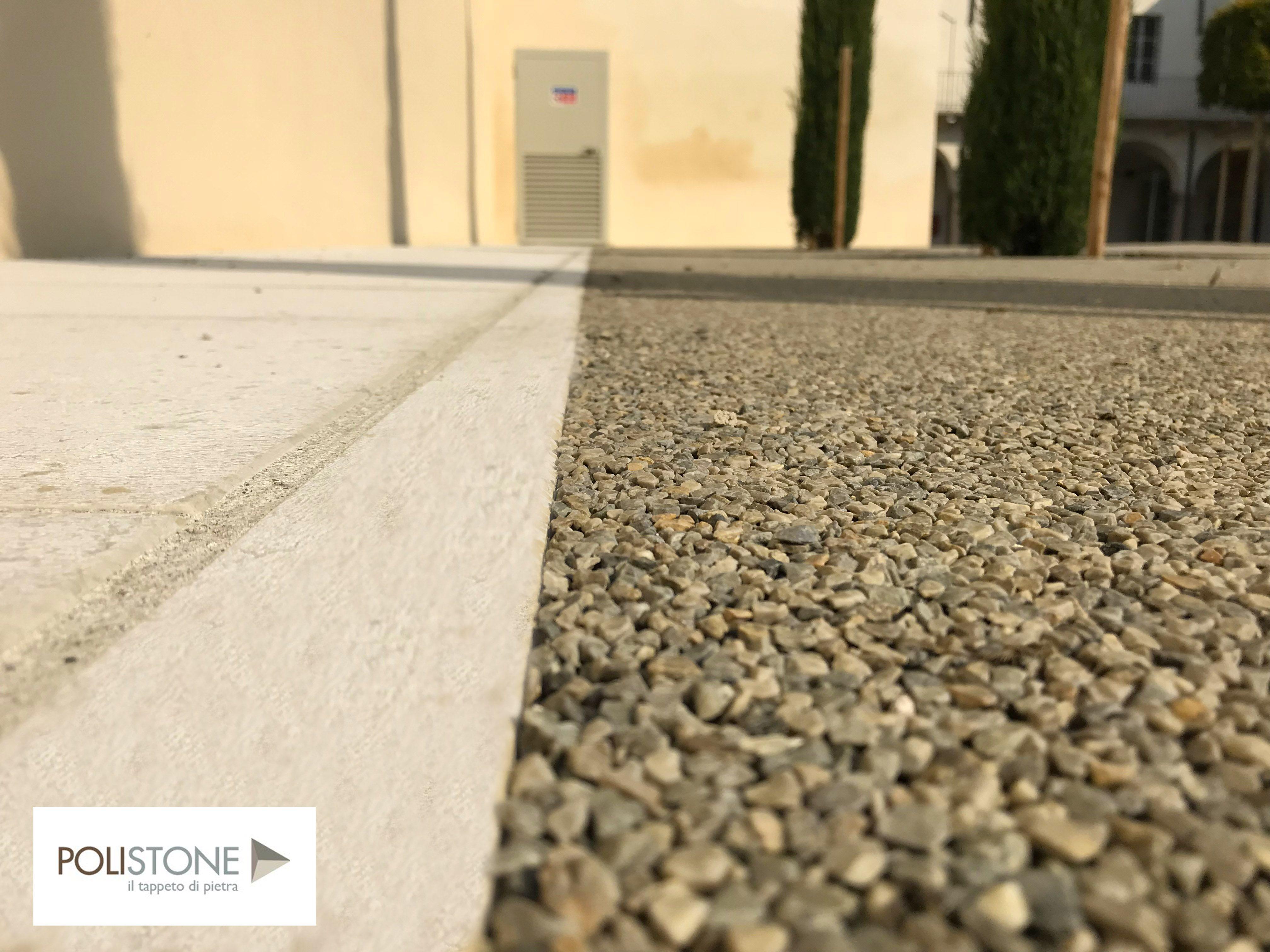 Resin bound pavimento in resina per esterno drenante polistone occhialino r - Pavimento resina esterno ...