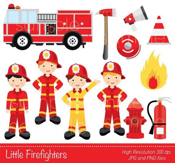 digital clipart little firefighters clipart firetruck clipart rh pinterest com au firefighter clip art firefighter clip art