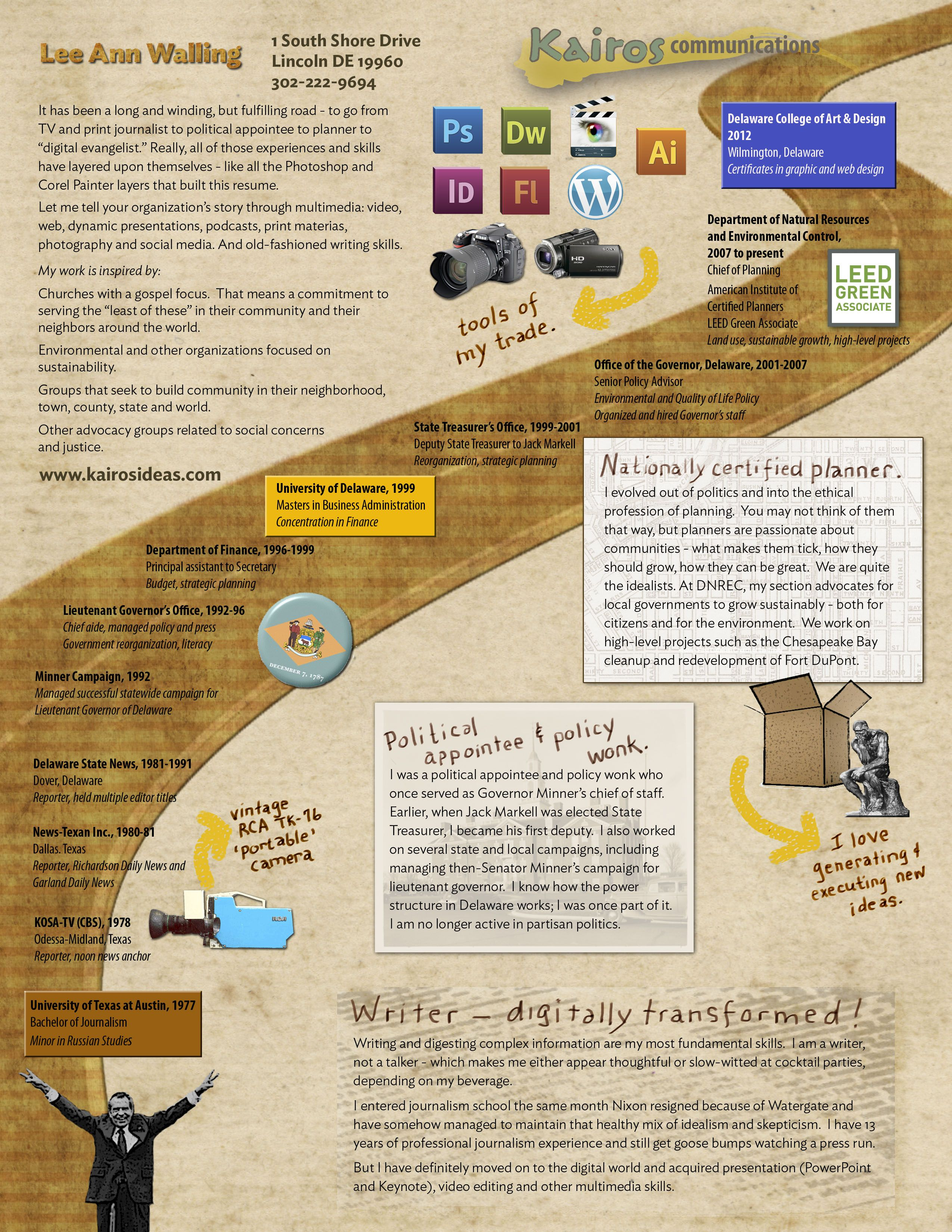 My own resume (class project)   Graphic design   Pinterest   Class ...