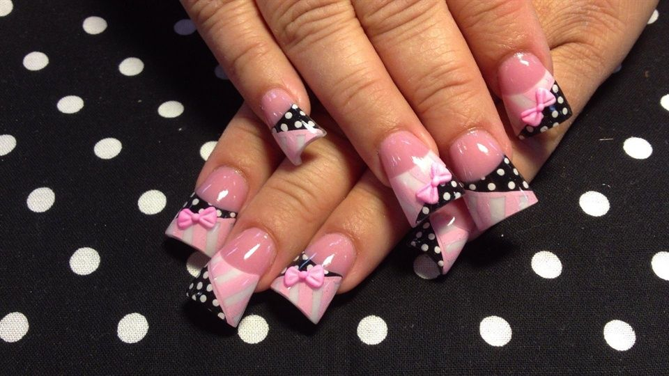 more 3d dots and stripes - Nail Art Gallery | Nails | Pinterest ...