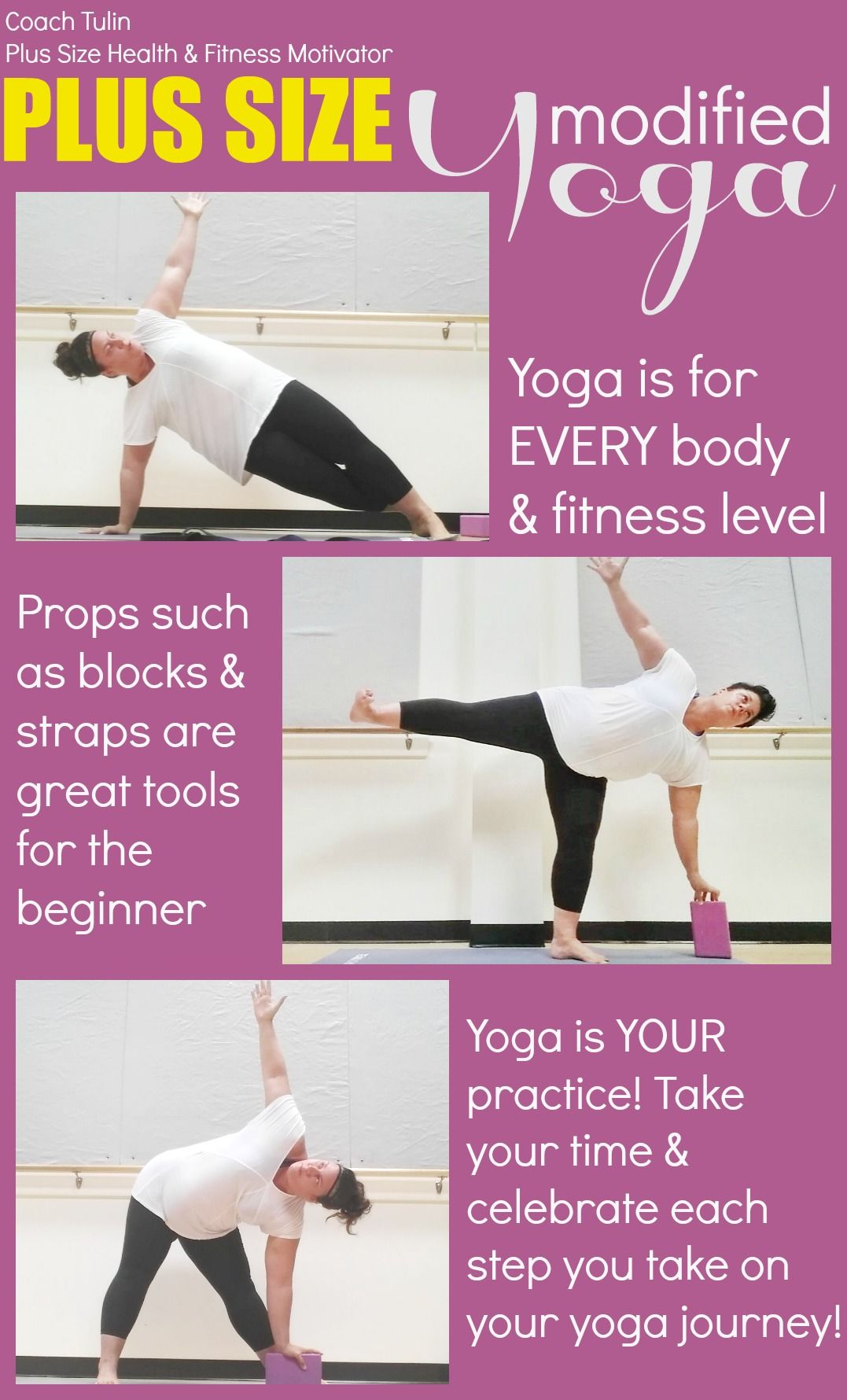 Plus Size Modified Yoga - Yoga is for EVERY body & fitness level ...