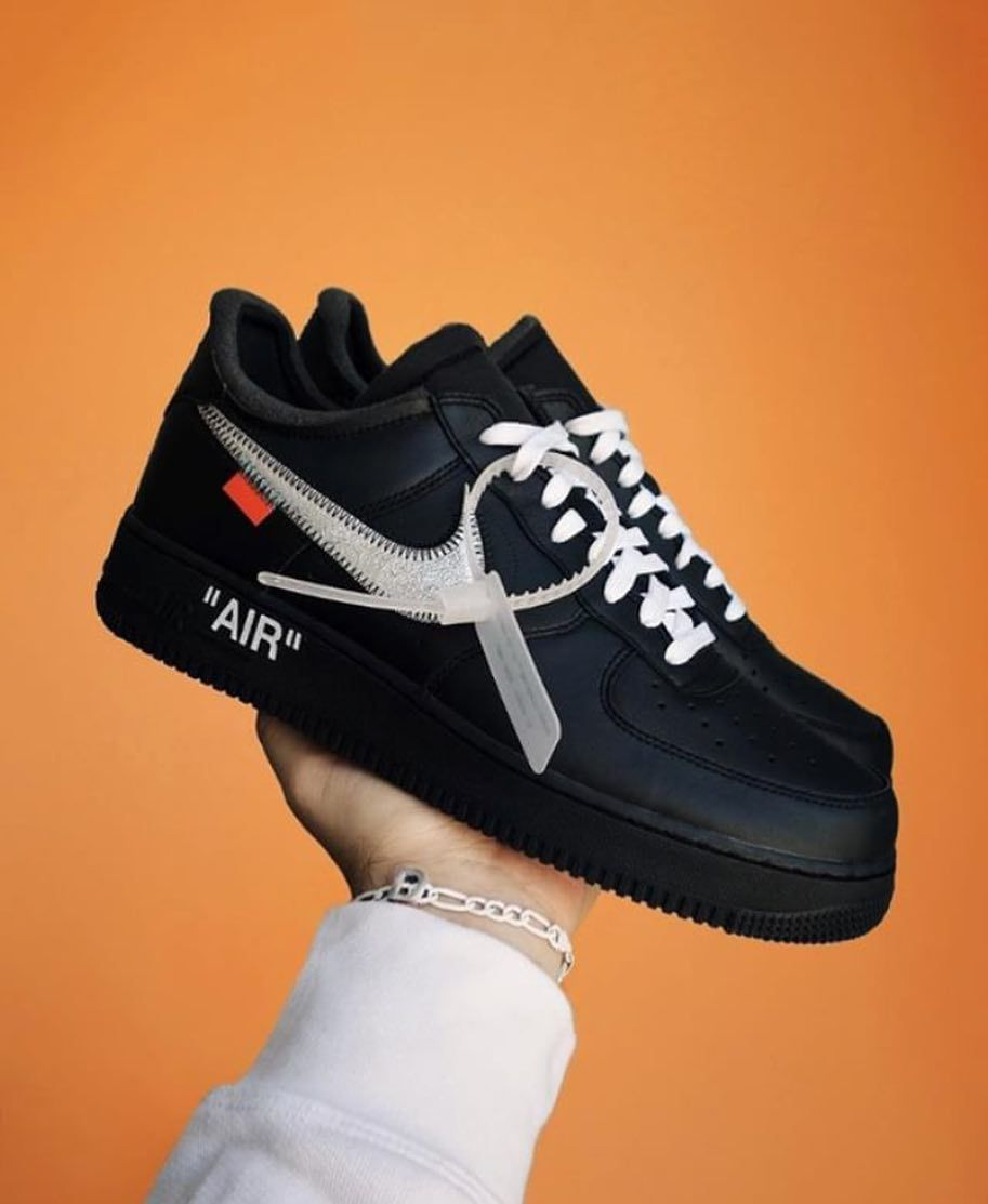 Nike x Off White Air Force 1 MoMa | Black nike shoes, Nike