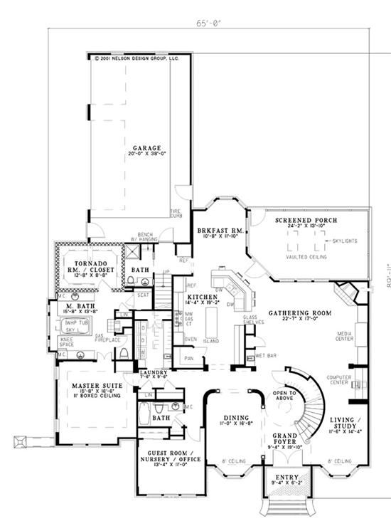 Panic Room House Floor Plan