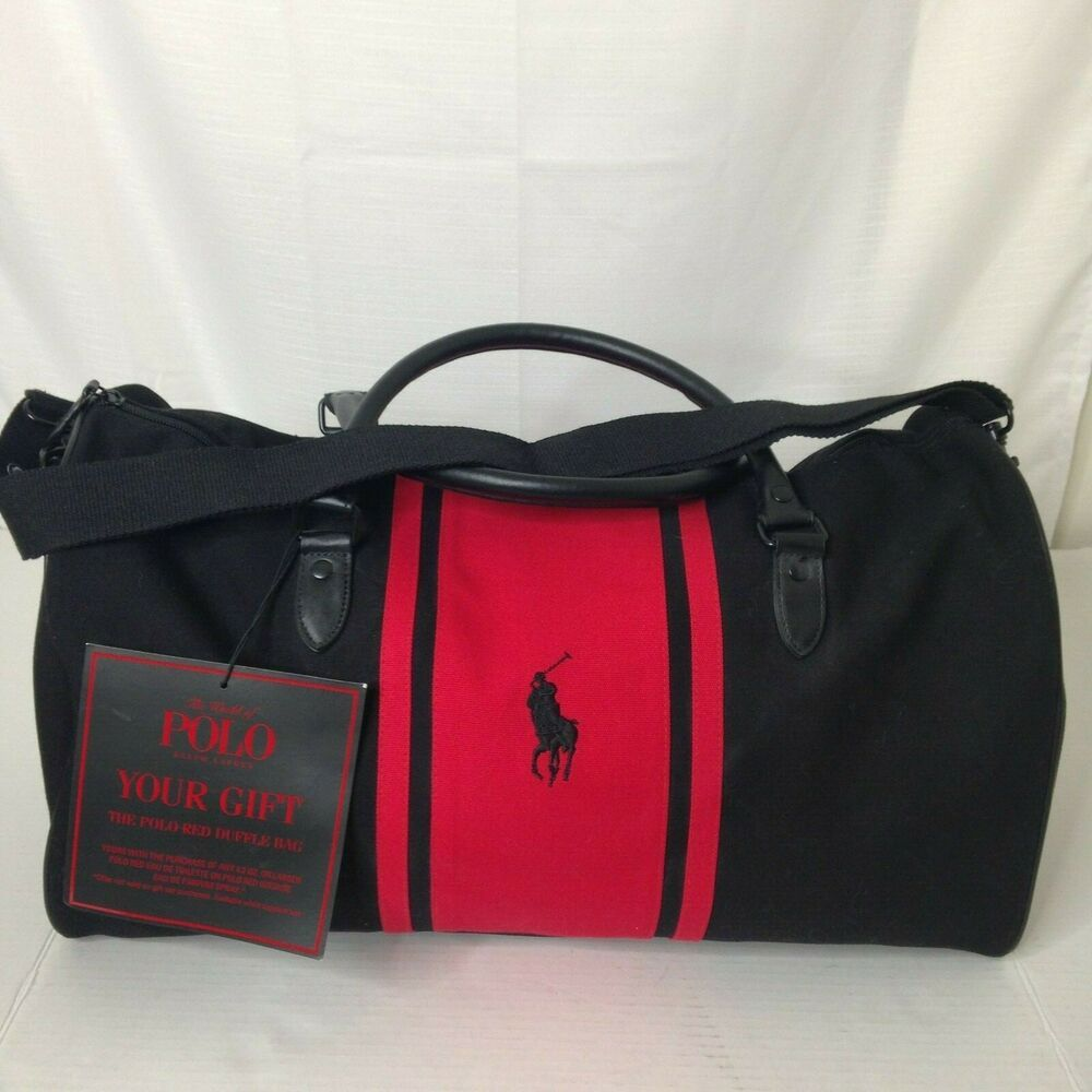Polo Ralph Lauren Red And Black Travel Duffel Bag Poloralphlauren Duffle Travel Duffel Bag Travel Canvas Duffle Bag Bags