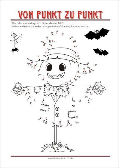 ausmalbilder halloween  von punkt zu punkt als gratis pdf