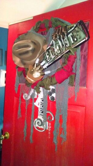 Freddy Krueger Halloween Wreath Holiday decor Pinterest