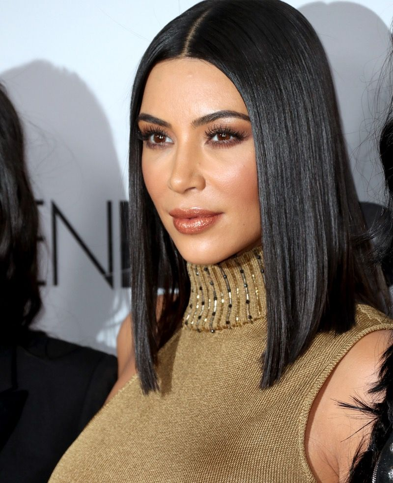 You Need To Try Kim Kardashian S Beauty Secret For Uber Healthy Hair Kim Kardashian Short Hair Medium Hair Styles Kim Kardashian Hair