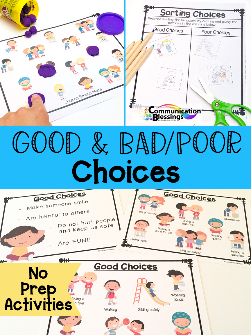 Good And Bad Choices No Prep Classroom Behavior System Social Skills Activities Social Skills Groups [ 1152 x 864 Pixel ]