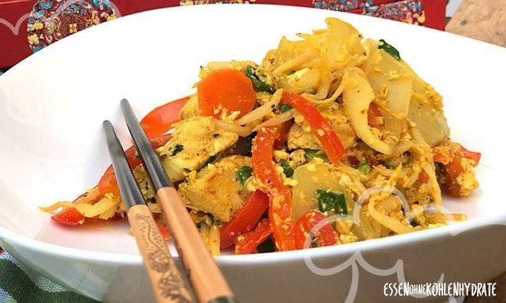 Asiatisches Huhn mit Gemüse und Ei   - Essen ohne Kohlenhydrate Rezepte