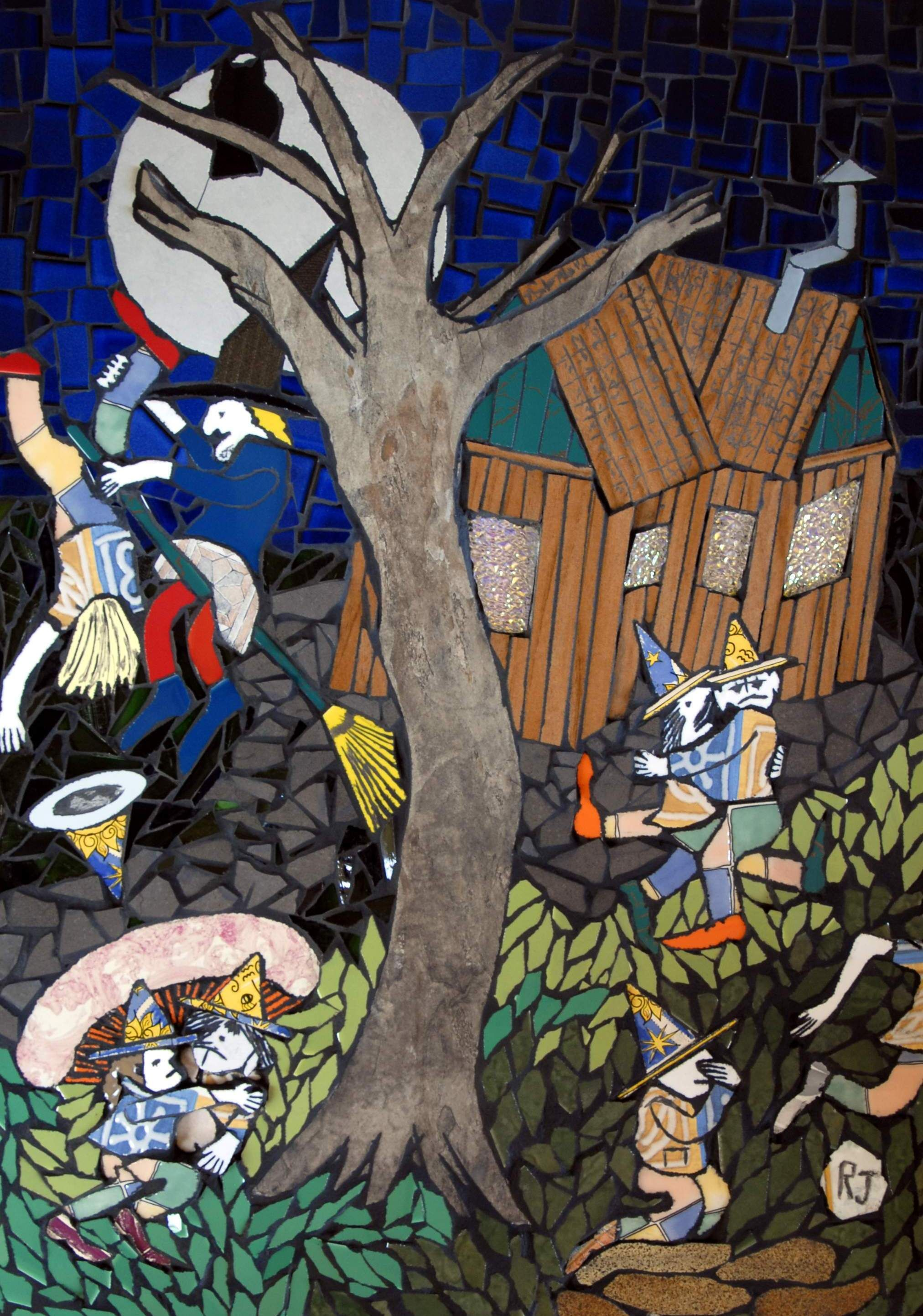 The goblins nightmare 75 cm x 50 cm mosaic art wall hanging 75 cm x 50 cm mosaic art wall hanging ceramic tile and glass dailygadgetfo Gallery