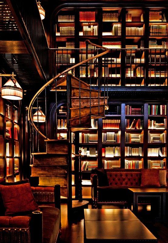 sehr sch ne beleuchtung love the lighting home library pinterest b cher bibliothek. Black Bedroom Furniture Sets. Home Design Ideas