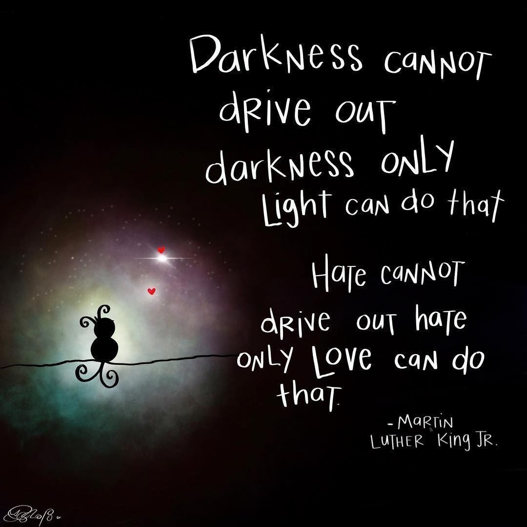 Darkness Cannot Drive Out Darkness Only Light Can Do That Quotes Darkness Martin Luther King Life Quotes And Say Life Quotes Martin Luther King Life Quotations