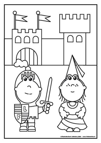 Kleurplaten Piraten En Prinsessen.Ridder Frokkie En Jonkvrouw Lola De Ridder En Jonkvrouw