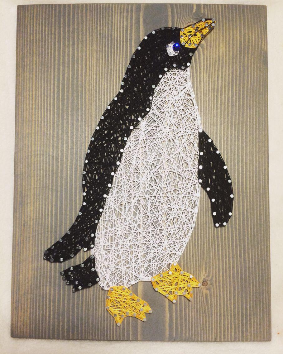 penguin string art animal decor