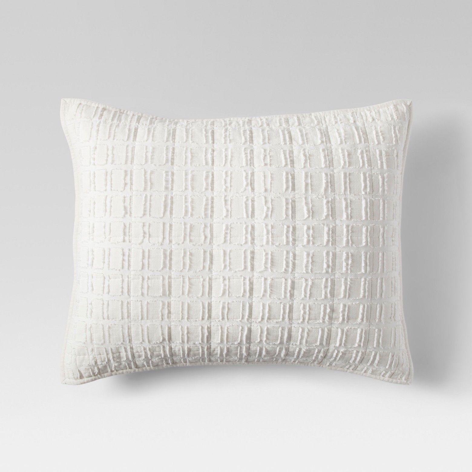 Project cream eyelash grid sham office guest rooms pillows and