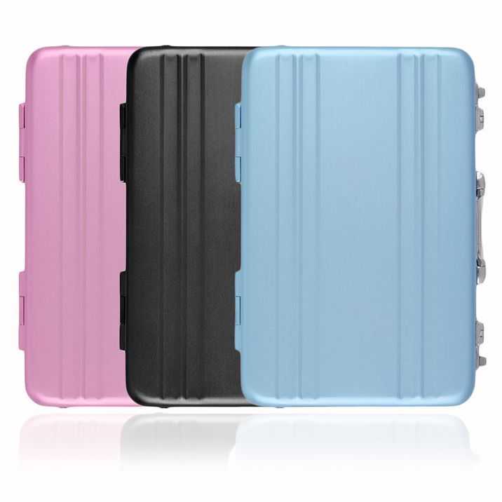 Cool Aluminum Password Briefcase Business Card Credit Card Holder ...