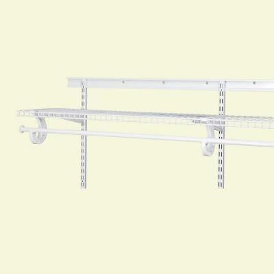 ClosetMaid ShelfTrack 80 In. White Hang Track 2836 At The Home Depot
