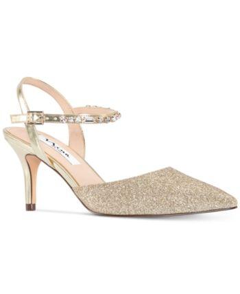 c8c511d7e Nina Tonya Evening Pumps - Ivory/Cream Pointed Toe Pumps, Pump Shoes,  Women's