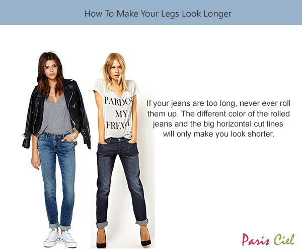 how to make your legs appear longer