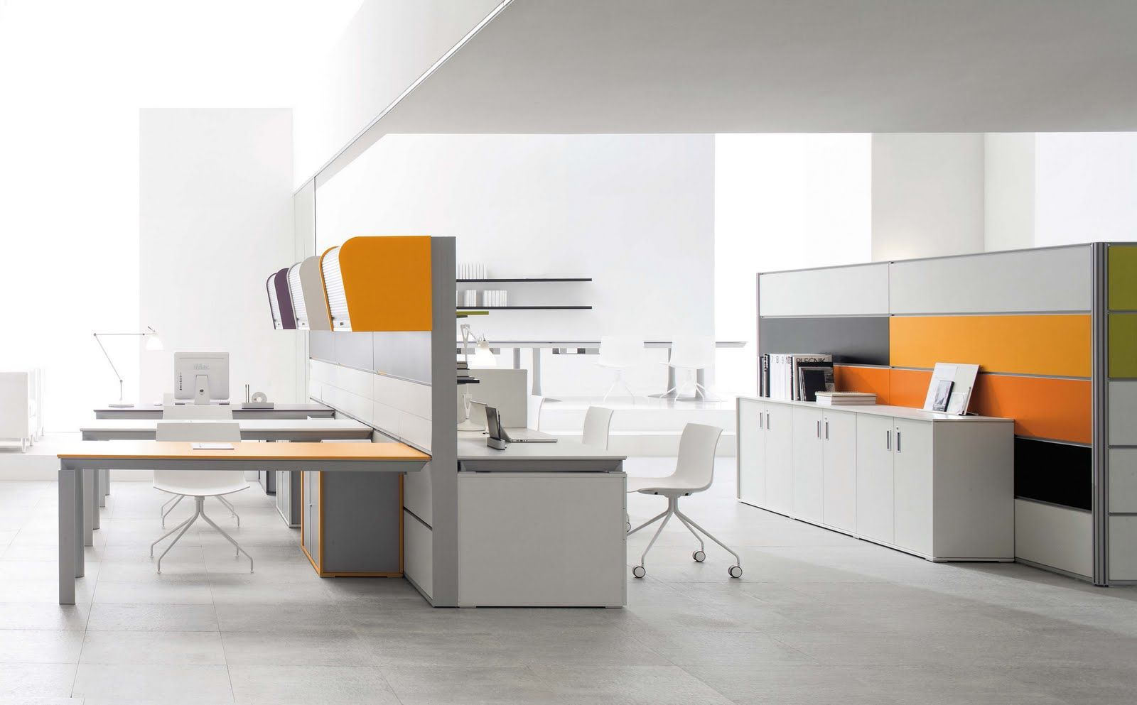 Contemporary Office Furniture Office With Modern Furniture Stylish White Energy Efficient