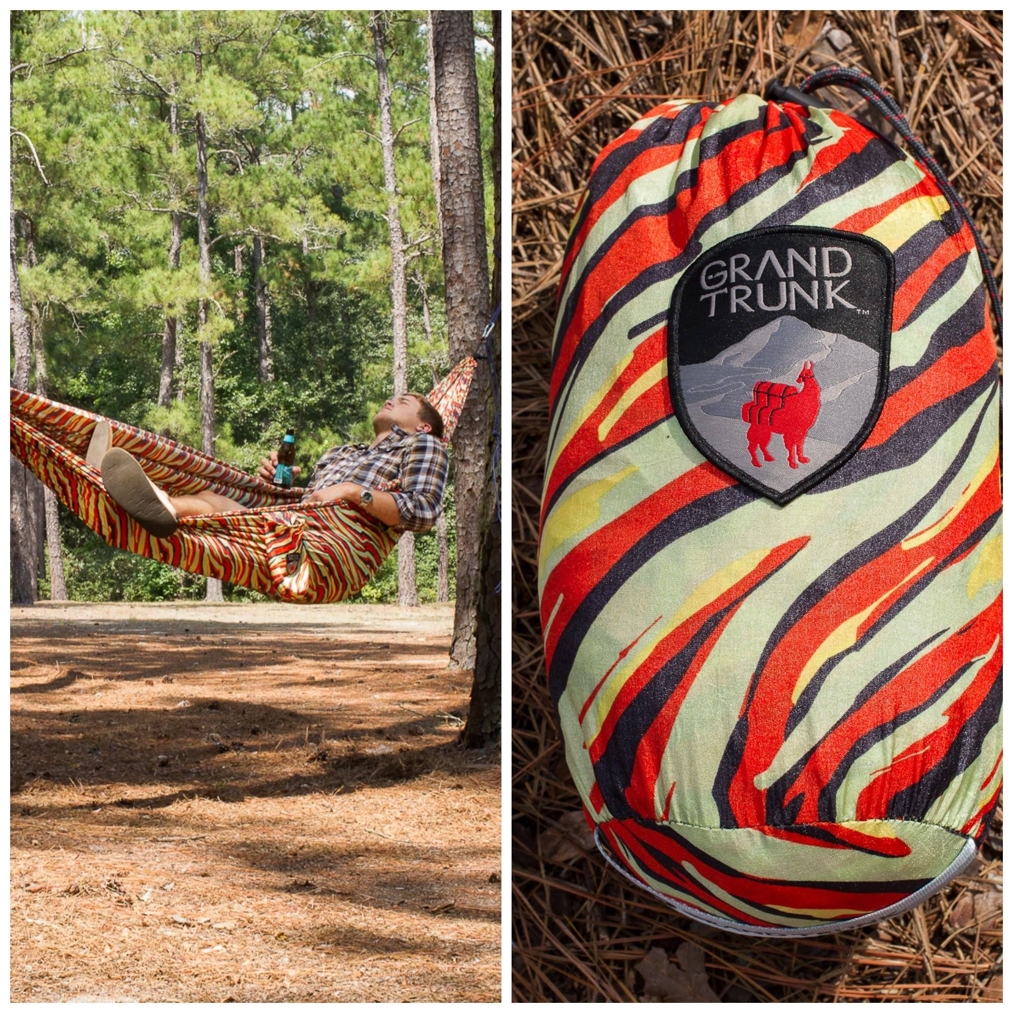 Tiger Print Double Hammock Grand Trunk Hammock Double
