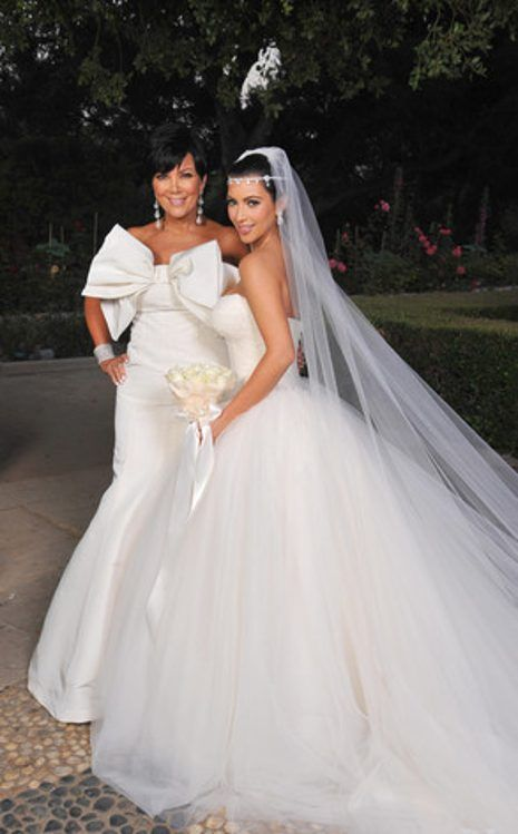 Mother Daughter Moment From Kim Kardashian S Wedding Album Kim Kardashian Wedding Dress Kim Kardashian Wedding Kardashian Wedding