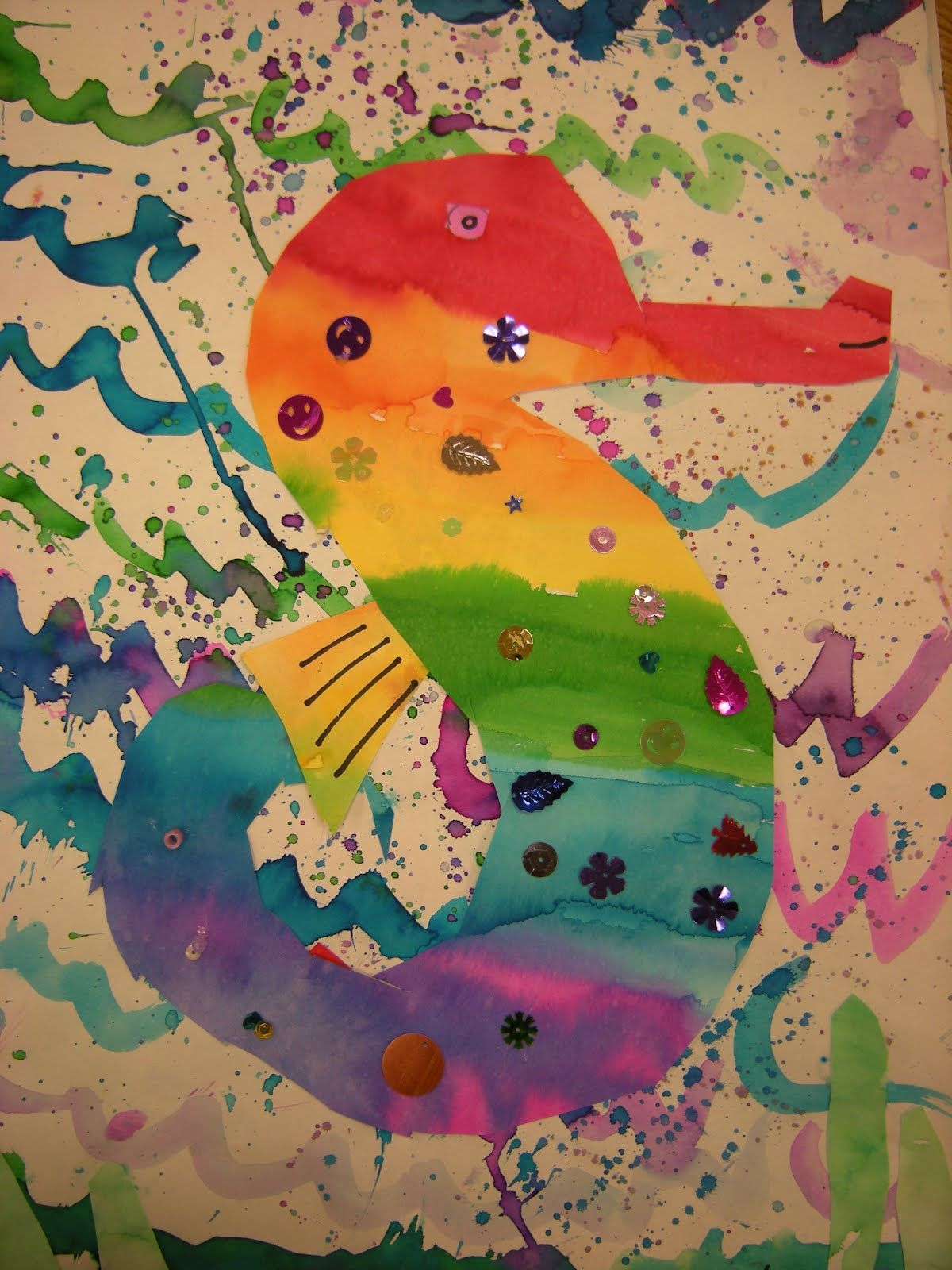 Color wheel art lesson for second grade - Artolazzi Grade Color Wheel Idea Inspired By Mister Seahorse Written By Eric Carle In Art Class Second