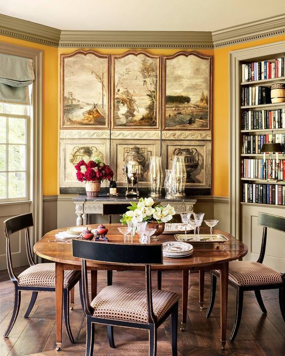 james carter dining room by designer jane hawkins hoke photo annie schlechter for veranda - Veranda Dining Rooms