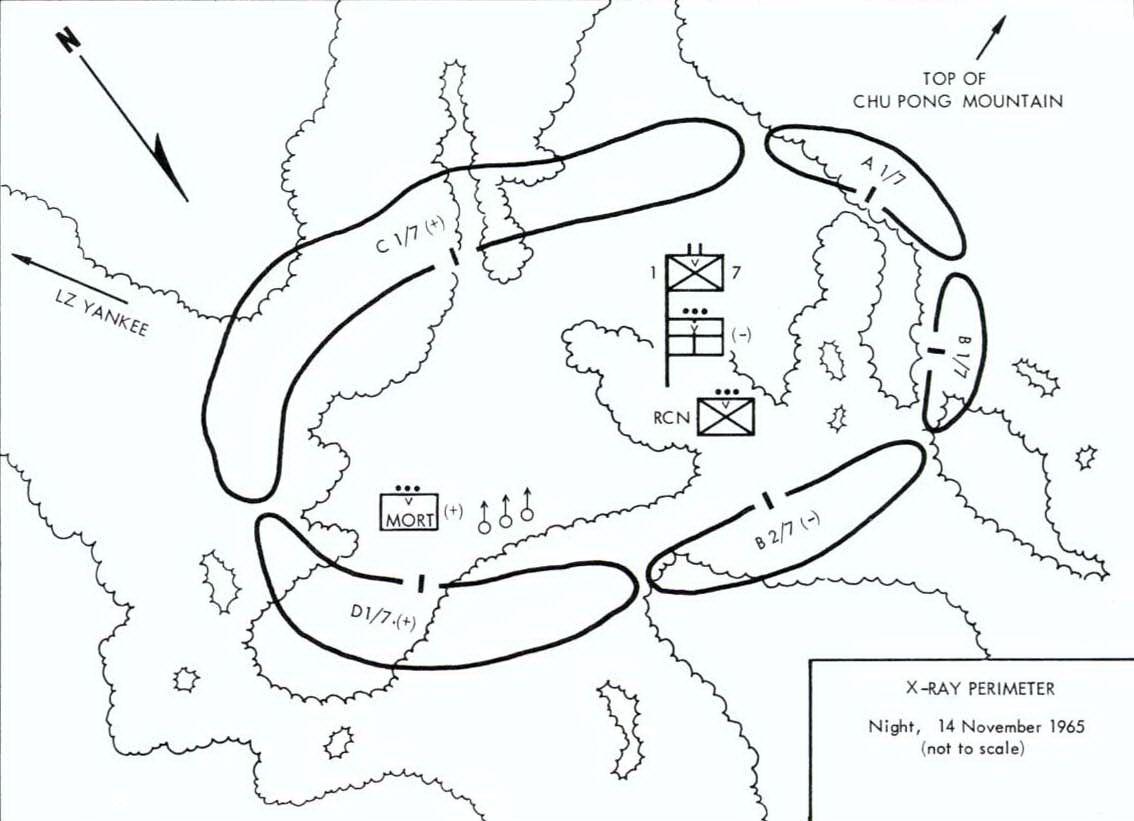 Ia Drang X Ray Perimeter Situation 14 November